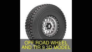 3D Model of OFF ROAD WHEEL AND TIR 9 Review