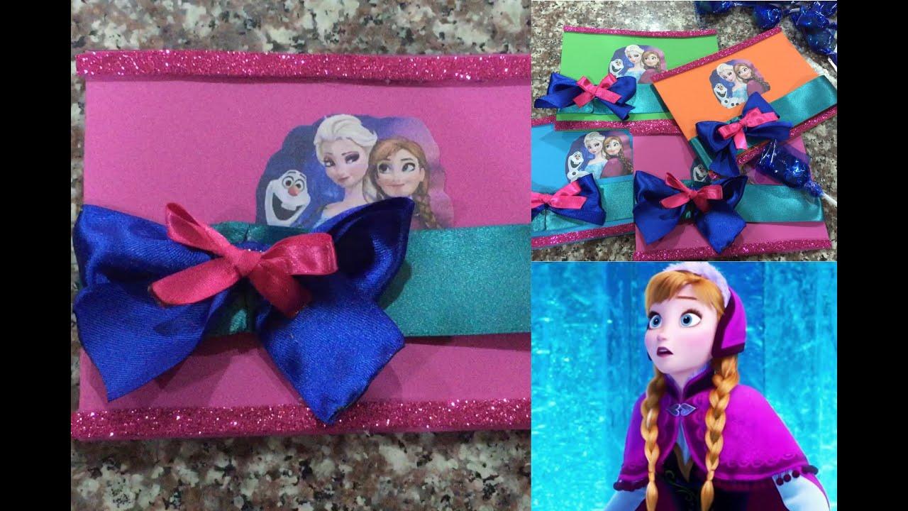 Tarjeta de invitacion Frozen, super facil de hacer YouTube