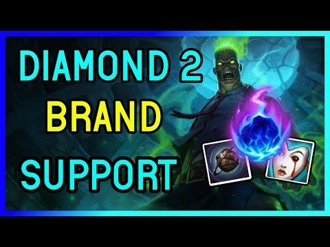 SPOOKY ZOMBIE BRAND SUPPORT DIAMOND 2 - League of Legends
