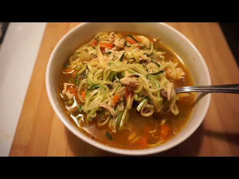 Crockpot LOW CARB Chicken ZOODLE Soup!