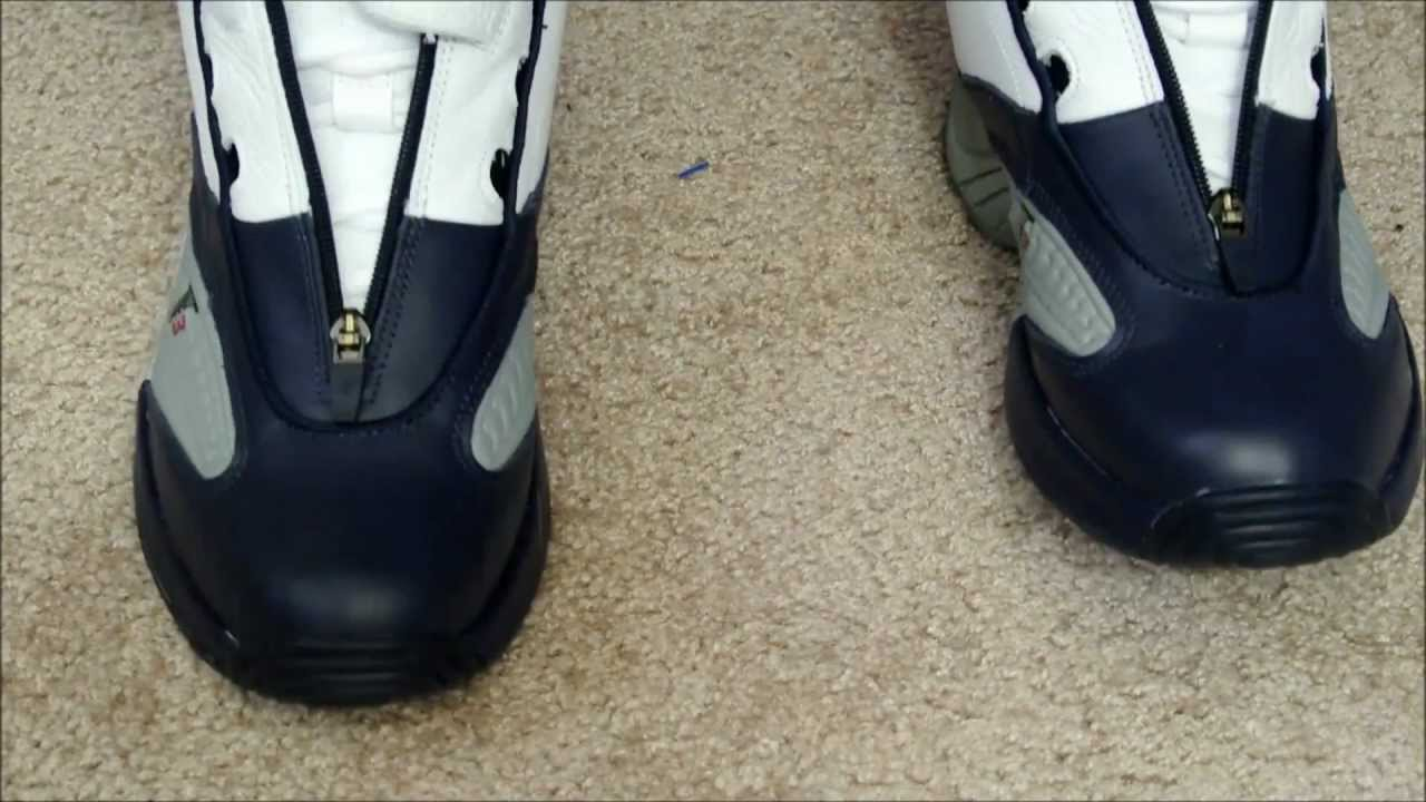 Reebok Answer IV (4) Retro 'Georgetown' On Foot - YouTube