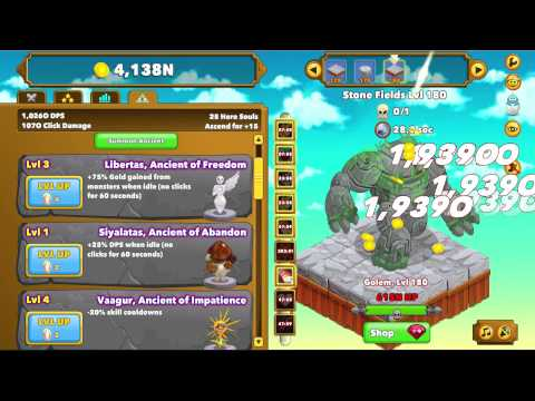 Clicker heroes gameplay new ancients