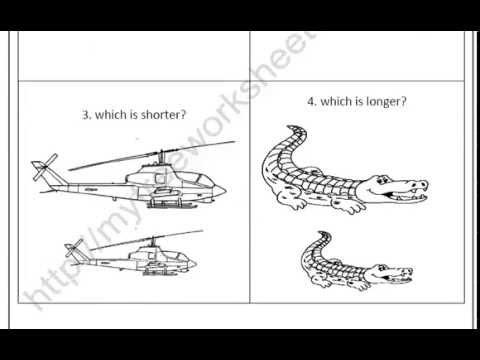 math worksheet : size worksheets for preschool and kindergarten long vs short  youtube : Long And Short Worksheets For Kindergarten