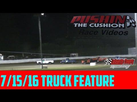 Lafayette County Speedway 7/15/16 Sportsman Truck Feature