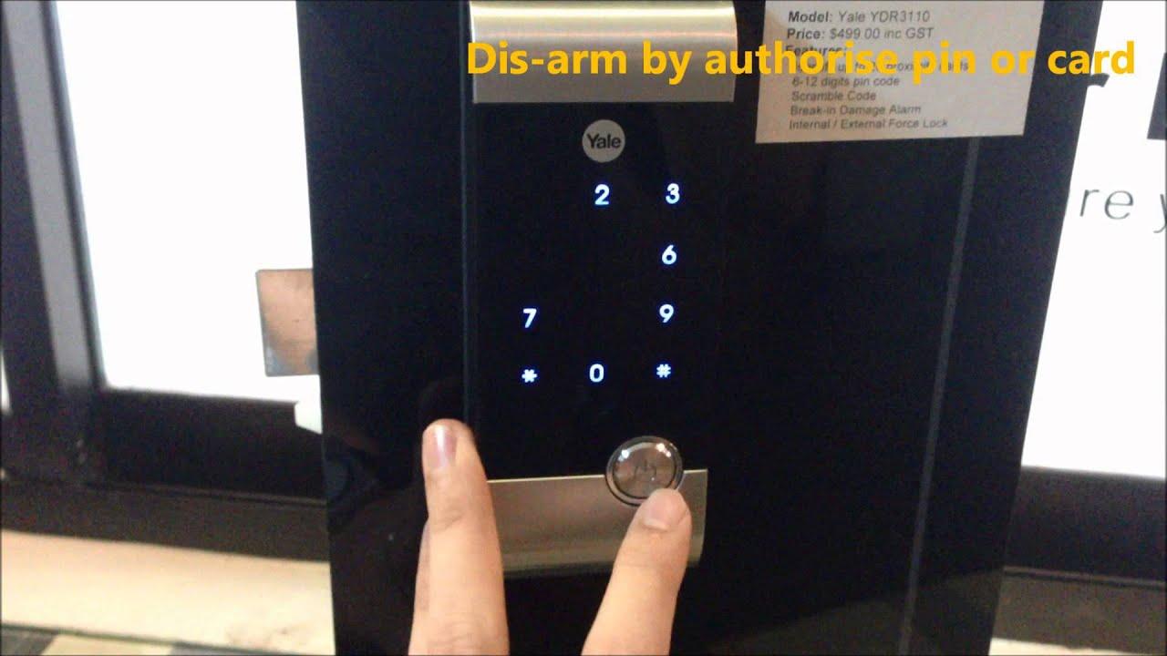 Yale Ydr3110 Rfid Digital Door Lock Youtube