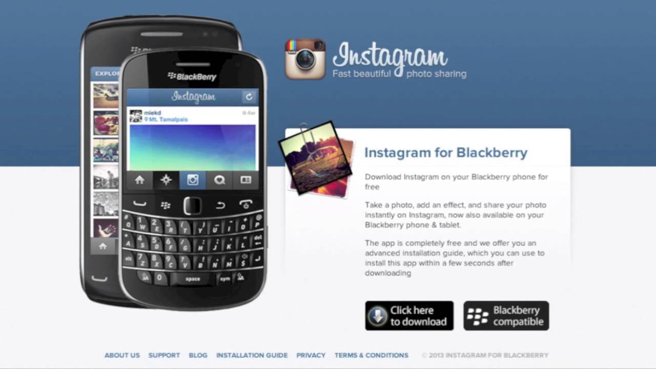 install instagram for blackberry 9300