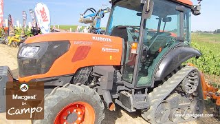 Trattore Kubota M5091 Narrow Power Crawler e Berti Ecorow per Macgest in Campo [HD]