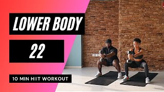 No. 45 | Legs & Glutes HIIT Workout with Beginner & Low Impact Modifications