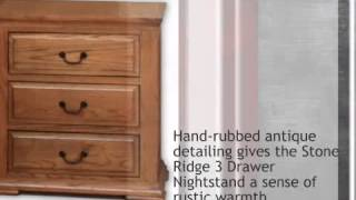 Stone Ridge 3 Drawer Nightstand - Lonestarwesterndecor.com