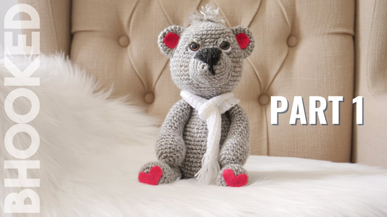 Amigurumi Teddy Bear Free Patterns : How to crochet a teddy bear video 1 youtube
