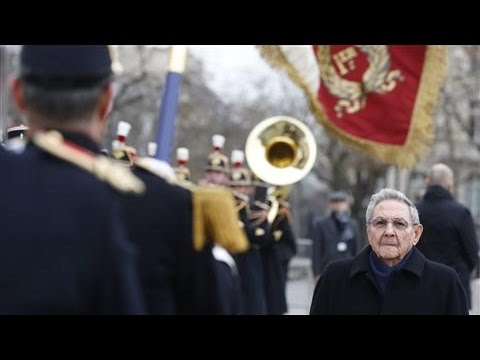 Cuba's Raul Castro in France for Historic Visit