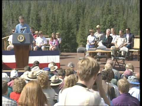 President Clinton at New World Mine Property Agreementing Signing (1996)