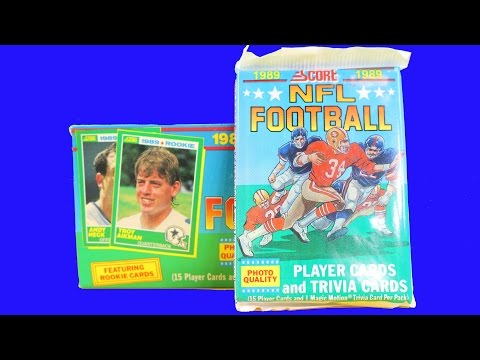 1989 nfl football cards box break troy aikman rookie year BBCE authenticated