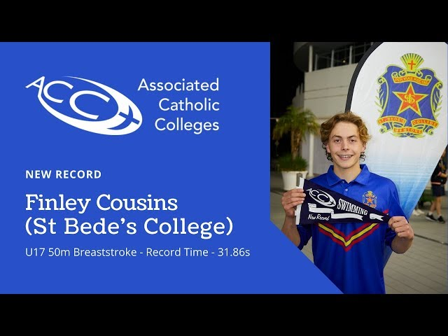 U/17 Breaststroke - Finley Cousins - NEW RECORD