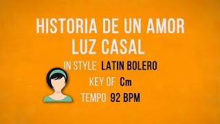 Historia De Un Amor - Karaoke Female Backing Track