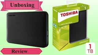 Toshiba Canvio Ready USB 3 0 1TB Portable Hard Drive Unboxing And Review In Hindi 2018