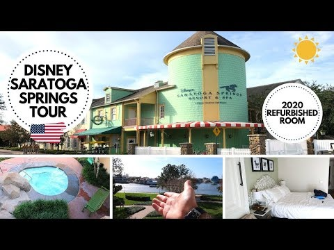 DISNEY SARATOGA SPRINGS RESORT & ROOM TOUR | 2020 REFURBISHED ROOM | WALT DISNEY WORLD VLOGS