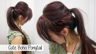 Cute Boho Ponytail