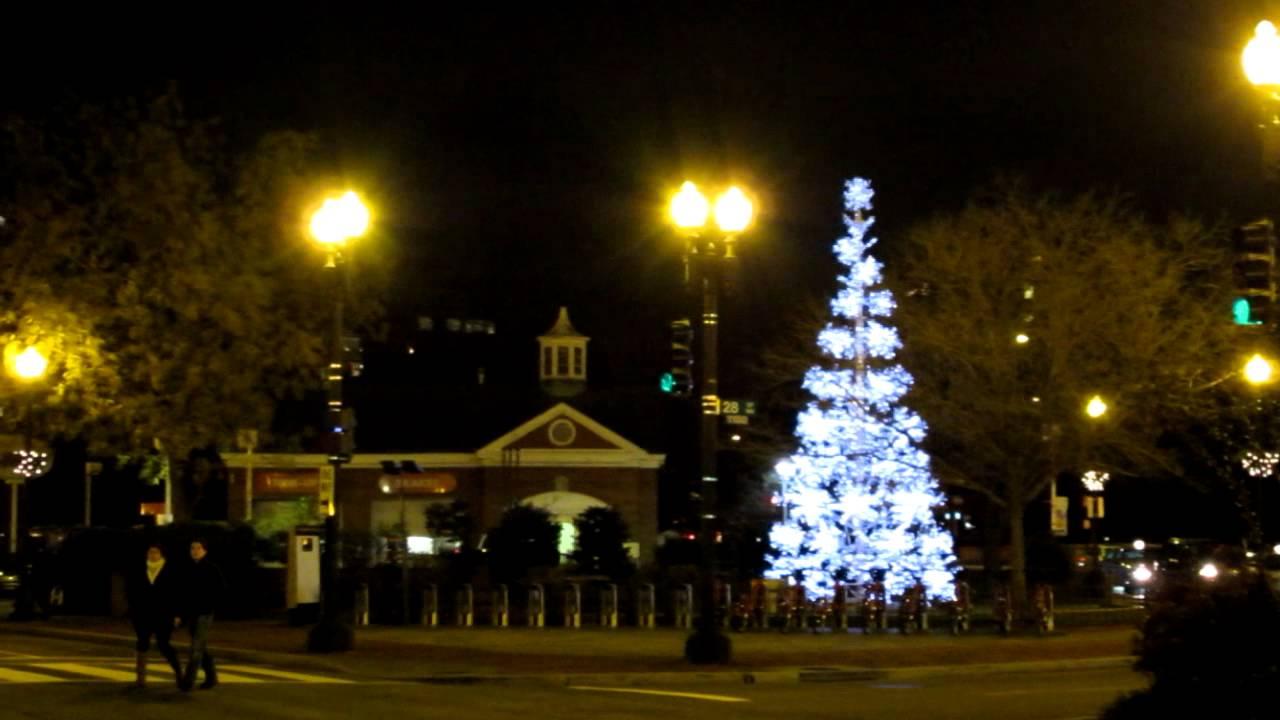 georgetown washington dc christmas tree lights