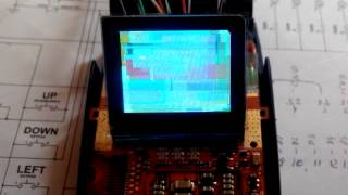 The first test LCD OLED Samsung D100 (E700) + STM32