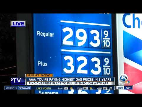 Gas prices hit three-year high