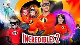 The Incredibles HYPNOTIZED by the GAME MASTER! Mystery Clues Found | Slyfox Family Halloween Special