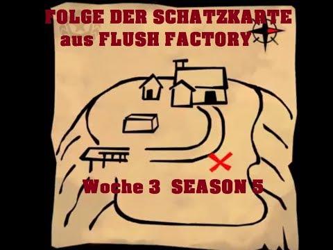 Fortnite: FOLGE DER SCHATZKARTE Aus FLUSH FACTORY / Woche 3 SEASON 5