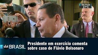 Presidente em exercício comenta sobre caso de Flávio Bolsonaro | SBT Brasil (21/01/19)