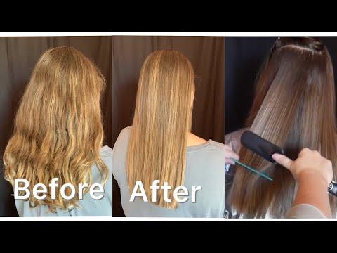 ASMR Hair Styling/Straightening & Brushing *extreme relaxation*