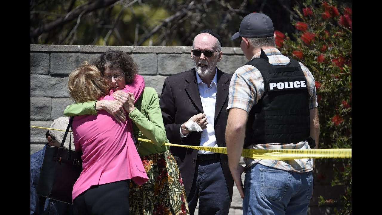 Police are investigating possible link between California synagogue shooting suspect and nearby mosque fire