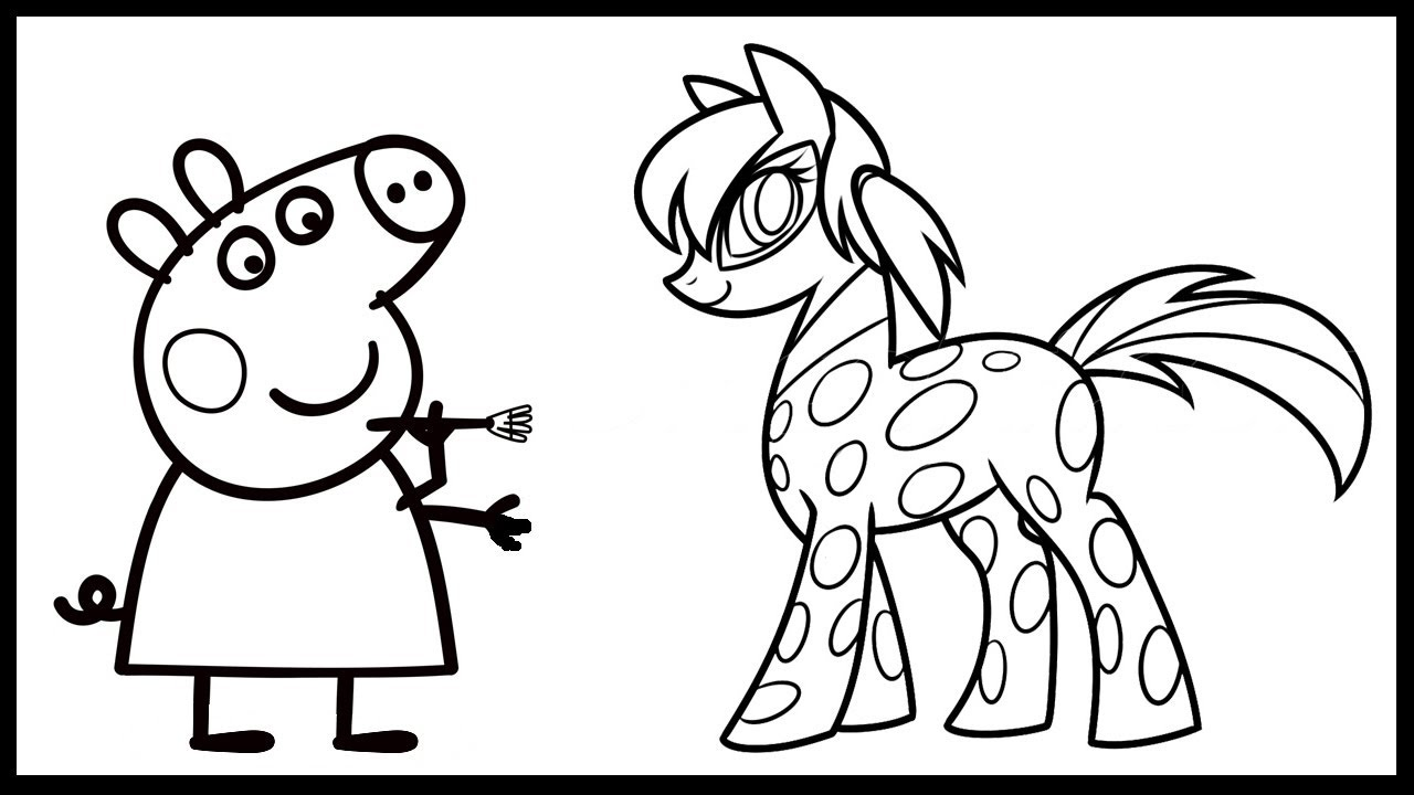 Peppa Pig Paint Miraculous Ladybug Pony Coloring Book Pages Video For Kids