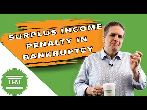 What is surplus income in a bankruptcy?