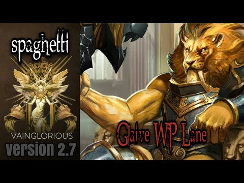 spaghetti   Glaive WP Lane - Vainglory hero gameplay from a pro player