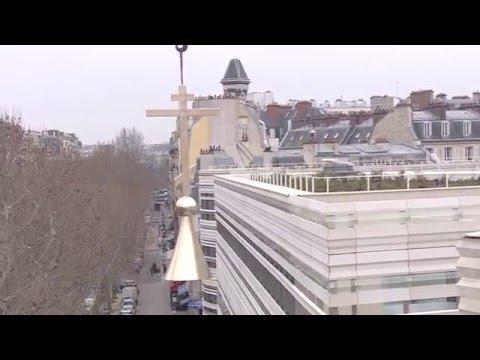 Pose du dôme - Centre orthodoxe Russe / Raising of the dome - Russian orthodox centre - Paris