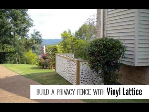 vinyl lattice panels create a privacy fence youtube. Black Bedroom Furniture Sets. Home Design Ideas