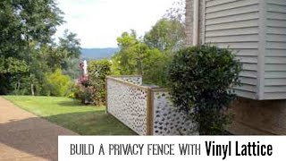 Vinyl Lattice Panels Create A Privacy Fence
