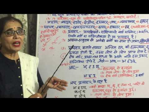 Sangya Prakaran lesson 6 (प्रत्याहार -संज्ञा सरल  विधि से ) Aadirantyen Saheta Sutra (Pratyahaar)