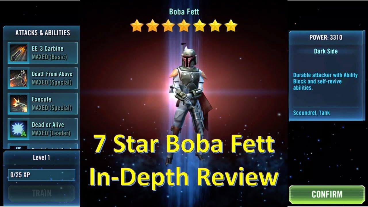 Star Wars Galaxy of Heroes: 7 Star Boba Fett In-Depth Review