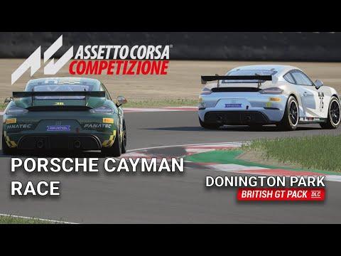 Porsche Cayman Race at Donington Park | Assetto Corsa Competizione | BRITISH GT PACK DLC |