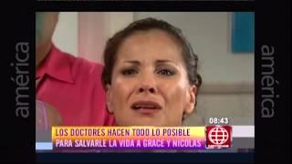Grace y Nicolás en el hospital - Al fondo hay sitio Noticias espectáculo - 03-03-2015