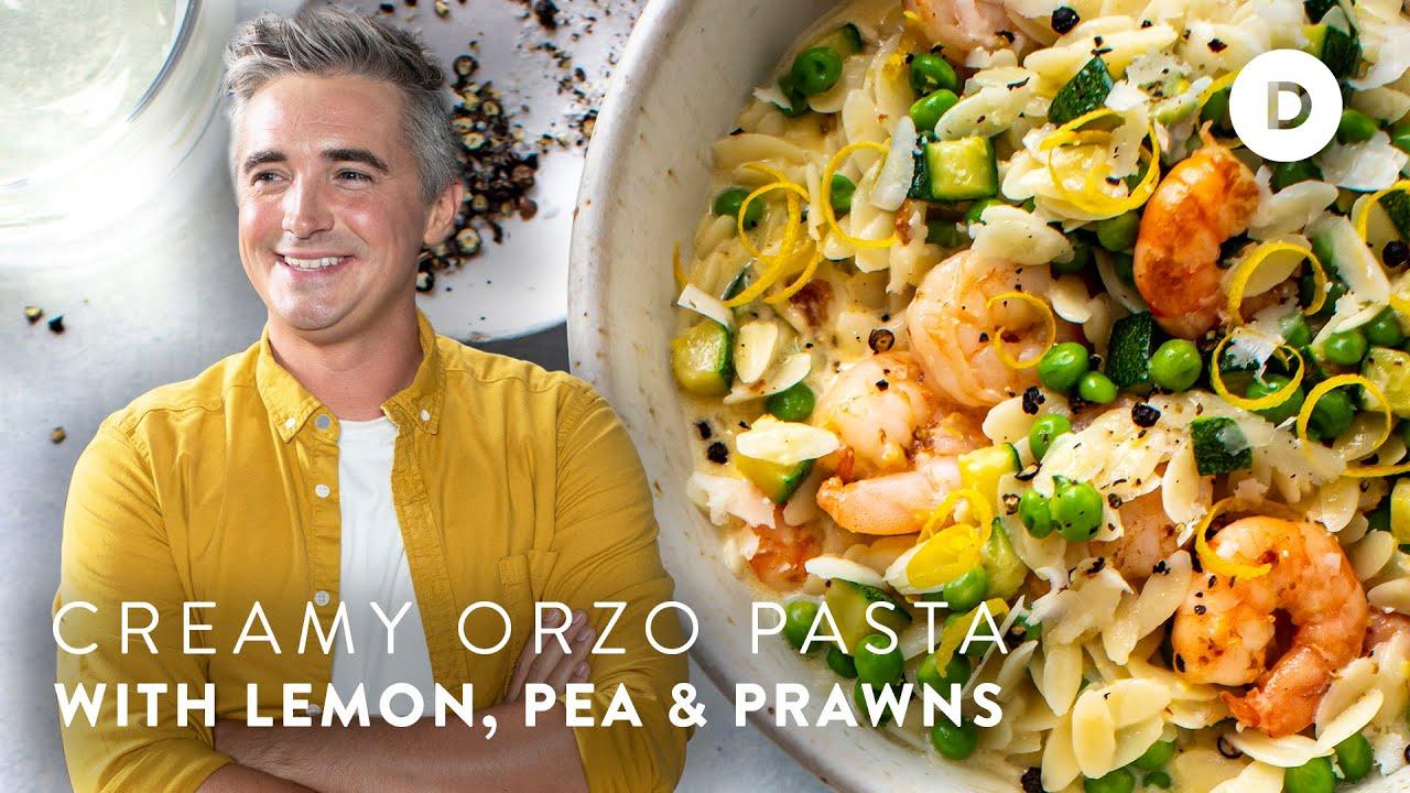 Download CREAMY Orzo Shrimp Pasta!