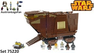 Lego Star Wars 75220 Sandcrawler - Lego 75220 Speed Build