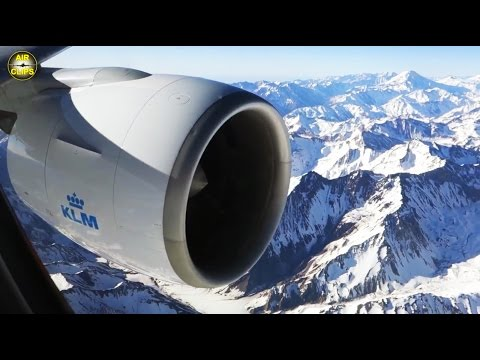 MEGA LOW MOUNTAIN FLIGHT on KLM B777-300! Approach: Andes mountains into Santiago, Chile [AirClips]