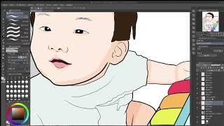 팝아트 초상화 그리기, 아기 초상화 (feat. 클립스…