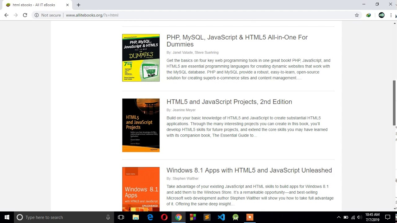 How to download free pdf programming books