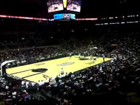 GO SPURS GO - San Antonio Spurs Fan Chant and Drum Beat in AT&T Center