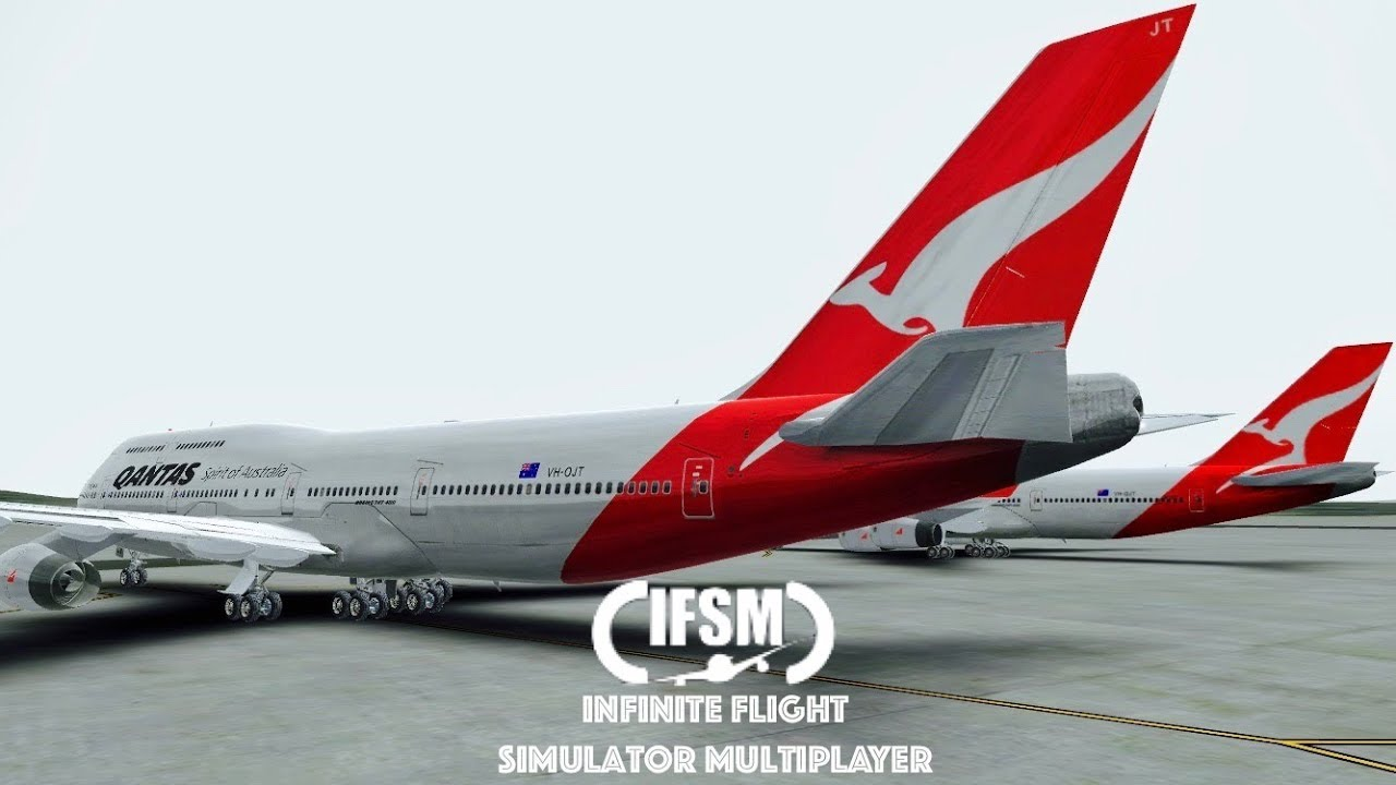infinite flight qantas airways b747 400 training. Black Bedroom Furniture Sets. Home Design Ideas