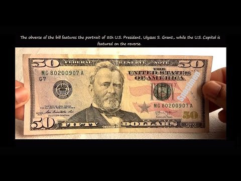 United States New Fifty Dollar ( $50 ) Bill Features & Security