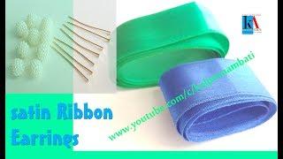 How to make 2 different types Tassel Earrings from Satin Ribbon  || Layered Tassel Earrings making