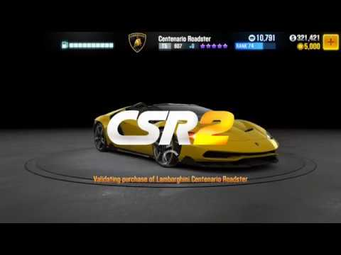 Csr Racing 2 Buying Lamborghini Centenario Roadster Youtube